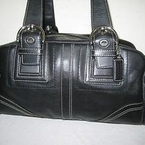 499 Coach Ltd Ed Soho Black Leather Tote Bag Purse. Photo