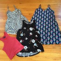4pc Lot Aeropostalesomaurices Xs Tank Dressrompermesh Top Spaghetti Straps Photo