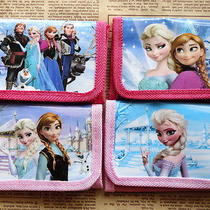 4pcs Girl Pink Disney Cartoon Fantasy Frozen Purses Wallets Children New F337 Photo