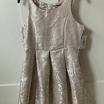 4ver Girls Party Dress Gown Sleeveless Blush Rose Metallic Size 16 Photo