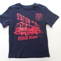 5 5t Baby Gap Nwt Fire Truck Station 9 Rescue Squad Ny Top T-Shirt New Boys Photo