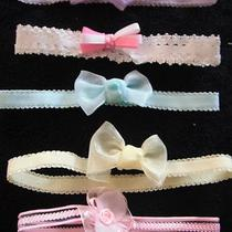 5 Baby Girls Headbands Hair Bows Accessories Fancy Blue Pink Newborn -12 Months Photo