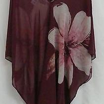 5 Carmen Marc Valvo Swimwear Dancewear Exercise Cover Ups Plum Floral Xs/s Tags Photo