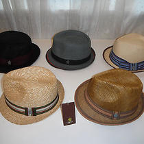 5 Hats - Christys Crown Series Deluxe Straw Fedora Hat Lot Size Medium Photo