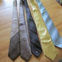 5 High End Men's Ties Some Brand New Brand New 75 Chelsea Givenchy Gentlemen Photo