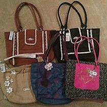 5 Large Shoulder Bag Lot Apt 9 Holly Princess Vera Wang Gracie Kelsey Tote Elle Photo