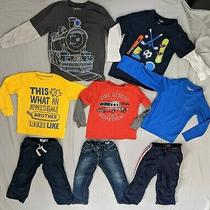5 Long Sleeve Shirts and Pants Size 5 for Boys Old Navy Osh Kosh Baby Gap  Photo