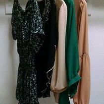 5 Medium Chiffon Top Lot (Forever 21 & Other Brands) Photo