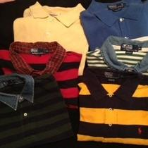 5 Pc Lot Mens Size Xl Xxl Ralph Lauren Polo S/s Shirts Plus 1 Gap Photo