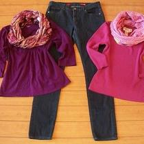 5 Pc Women's Clothing Lot Tops Jeans Scarves Size 10 M Photo