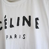 5 Pcs (12  Each) Celine  Paris White T-Shirt Awesome Quality Silkscreening Tee Photo