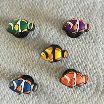 5 Pcs Clown Fish Jibbitz Clown Fish Jibbitz Fit Crocs 5 Clown Fish Clog Charms Photo