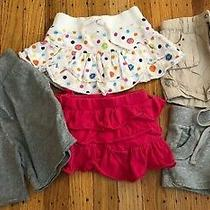 5 Piece Toddler Girl Skirt and Shorts Lot Gap Kids Guess Paul Frank Circo Brands Photo