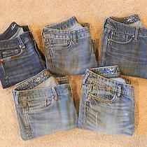 5 Women's Jeans / Express American Eagle / Size 4short / Used Photo