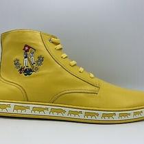 500 Bally Animals Yellow Leather High Tops Sneakers Size 13 Made in Switzerland Photo