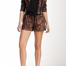 500 Cut25/yigal Azrouel New Lamb Leather  Dress Shorts Camo Black/brown Sz 8 Photo