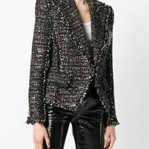 5040 Balmain Jacket Badge-Applique Tweed Blazer Size Fr 38 Us 6 S M Rare Photo