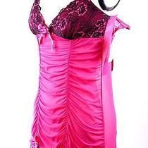 52 Flora by Flora Nikrooz Very Berry Mesh Lace Camidoll Teddy Bikini Set M Photo