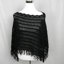 525 America Black Shawl Size 0 Small S Photo