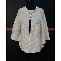 525 America Cream Cotton/acrylic Cardigan Size Medium  Photo