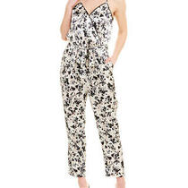 525 America Tie-Waist Silk-Blend Jumpsuit Women's White M Photo