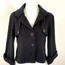 525 America Women's Black Short Swing Knit Jacket  Size S Photo