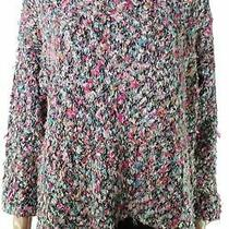 525 America Women's Sweater Pink Size Large L Pullover Knitted Crew 128 228 Photo
