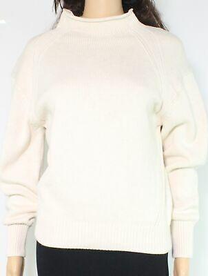 525 America Women Sweater Light Beige Size Small S Funnel Neck Pullover $78- 756 Photo