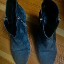 525 Rag & Bone Margot Charcoal Gray Suede Boots Booties Heels Size 38/7 Euc Photo
