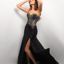 529 Brand New Nwt Blush Prom 9614 Pageant Gown Prom Dress Ab Stones Black 2 S Photo