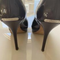530 Christian Dior Peep Toe Patent Leather Pump Shoes Christian Dior /miss Dior Photo
