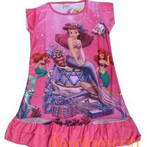 532 New Arrival Fancy Dark Pink Little Mermaid Ariel Girls Night Dress/pjs M Photo