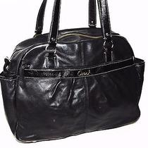 548 Coach Addison Black Leather Multifunctional Baby Diaper Tote Bag F18374 Photo