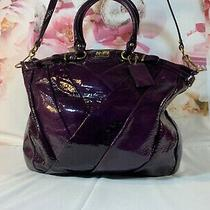 548 New Nwot Coach Madison Dark Purple Patent Leather Purse Bag Tote  Satchel 2 Photo