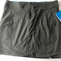 55 Columbia Women's Gray Just Right Outdoors Zipper Skort Skirt Size 12/44 Photo