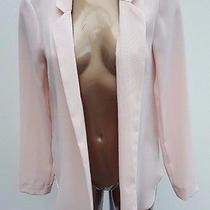 55 Ladies Warehouse Pink Blush Blazer Summer Chiffon Jacket Women Size 12 Photo