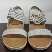 55 Skechers Women's Beverlee-Smitten Kitten Wedge Sandal 38527w Taupe 8 W Us Photo
