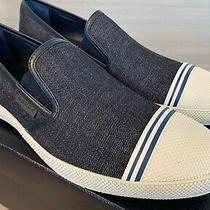 550 Prada Blue Denim Slip on Sneakers Size Us 8.5 Photo