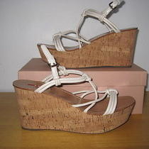 550 Prada  Cork  Platform  Strappy   Wedge  Sandals  Size 10-105 / 41 Photo