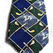 56 X 3.75 Payne Stewart Golf Club Golfers Blue Green Silk Necktie Tie Photo