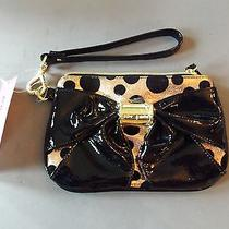 58 Betsey Johnson Black Bow Nanza Rose Gold Faux Leather Clutch Wallet Nwt 49 Photo