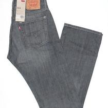 58 Levis Jeans514 Slim Straight38x32quartz Graynew With Tags Photo
