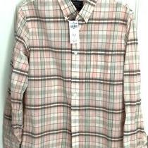 58 Men's Abercrombie & Fitch  Blush /brown Plaid Button L/s  Shirt  Small S Photo