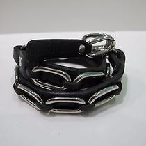 -58%Off Dsquared2 Black Leather Chain Bracelet Photo