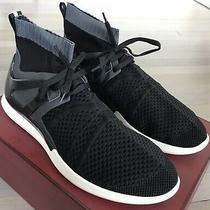 580 Bally Avallo Black Nylon Sneakers Size Us 9 Made in Italy Photo