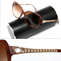 580 Bvlgari Ladies Diamond Crystal / Mother-of-Pearl Sunglasses Photo