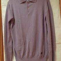 580.versace 4 Button  Men's Polo Sweater Size S Photo