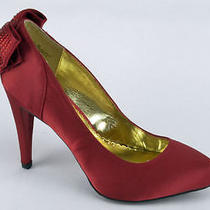 59 Rampage Normina Women's Red Satin Classics Us9 Photo