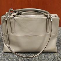 598 Coach Warm Grey Glove Tan Leather Borough Bag W Dust Bag Photo