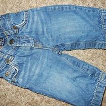 6-12m Baby Gap Boys Jersey Knit Lined Denim Blue Jeans Brannan Bear Pants Photo